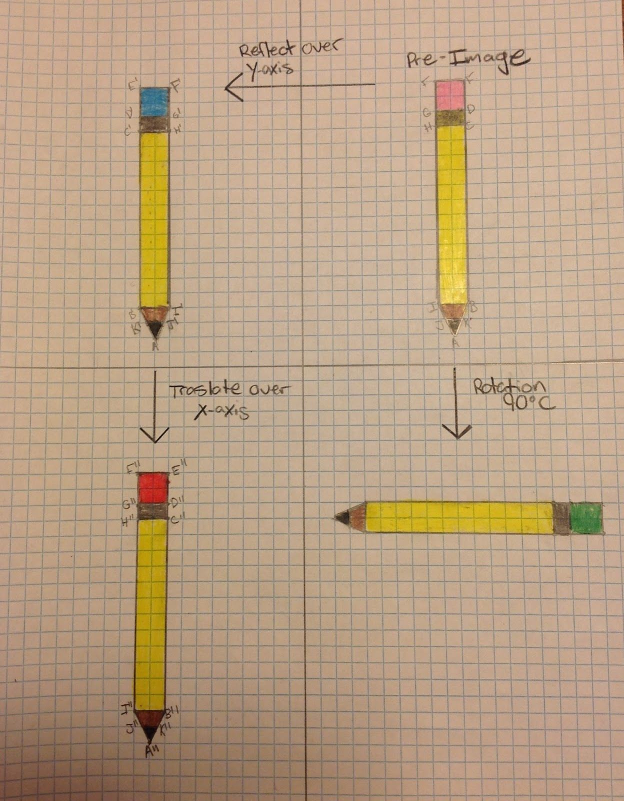 Geometry Translation Worksheet 8th Grade