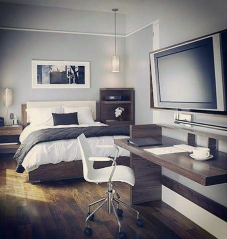 bedroom designs for men with office desk | master bedroom