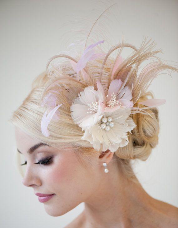 Beautiful Floral Fascinator Bridal Hairstyles