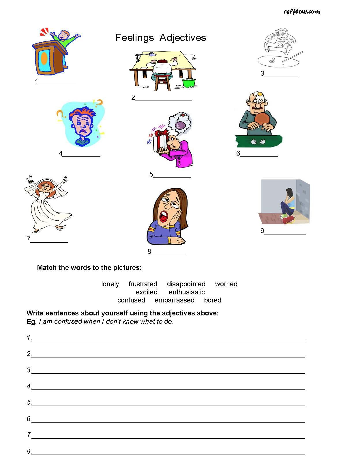 Printable Inside Out Emotions Worksheet