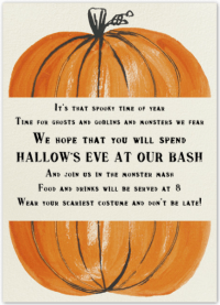 halloween poems for party invitations