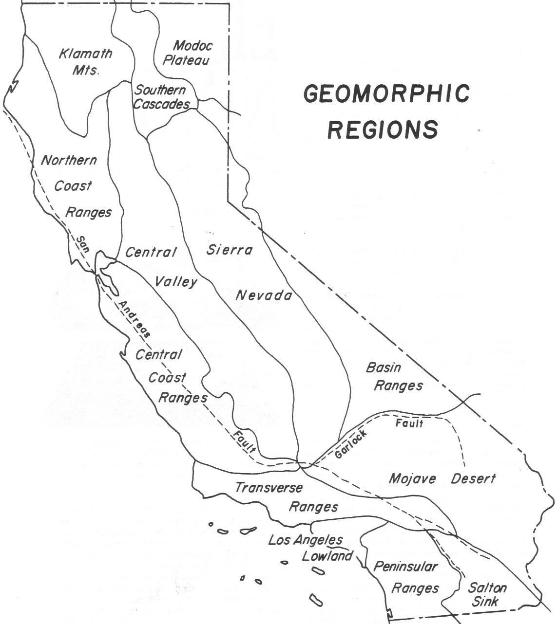 Blank Map California Education