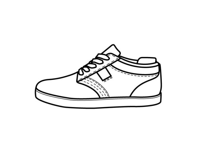 Printable Shoe Coloring Page From Freshcoloring Com