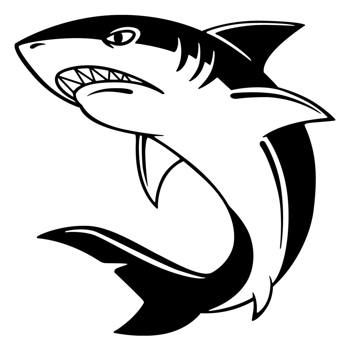 Shark Black And White Drawing Ourimgs