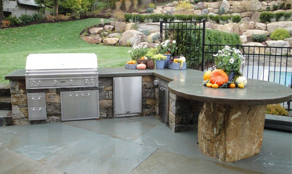 sensational outdoor barbecue kitchen designs with diy concrete countertops outdoor kitchen and on outdoor kitchen natural id=69221