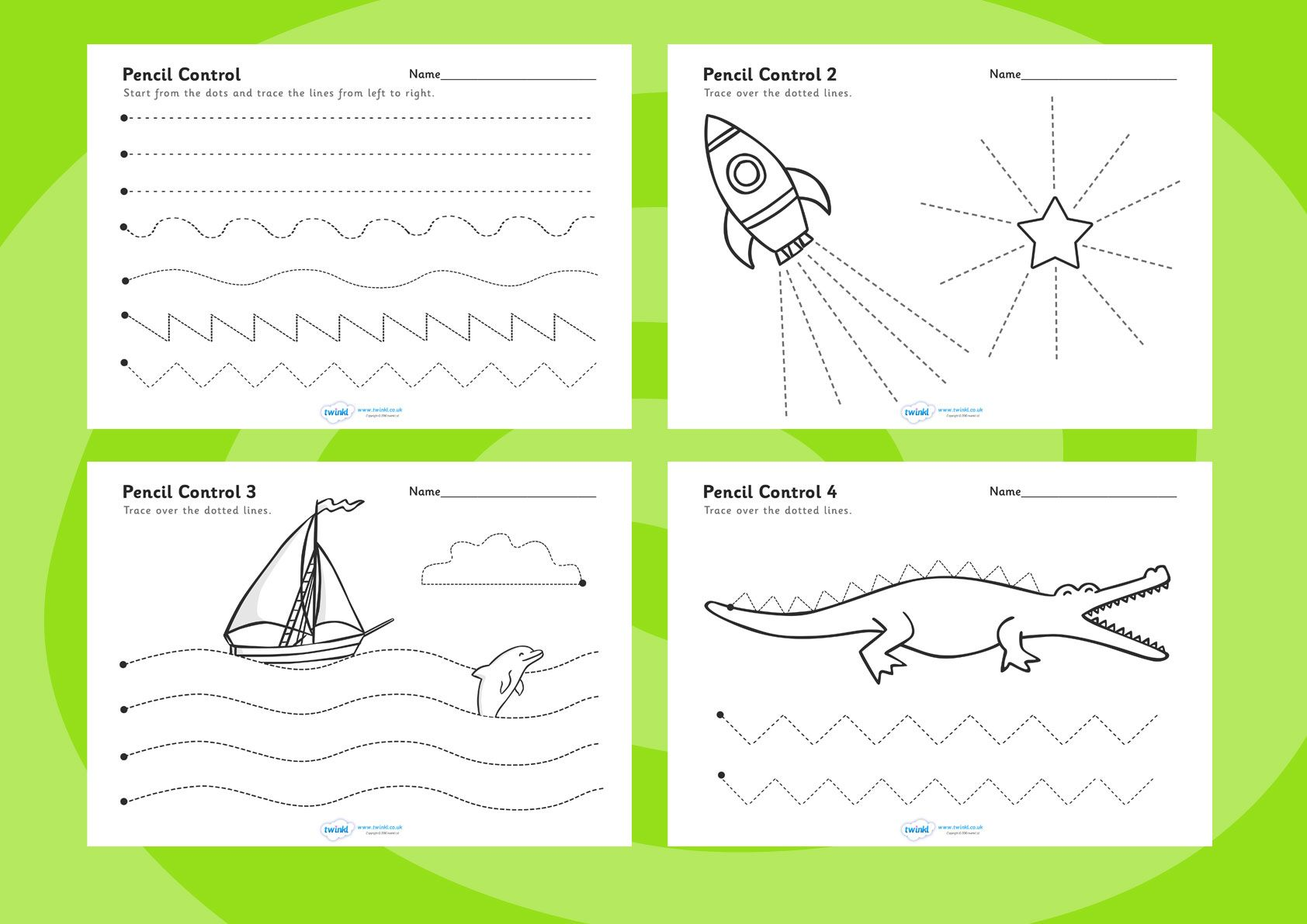 Pencil Control Worksheets Free Printables