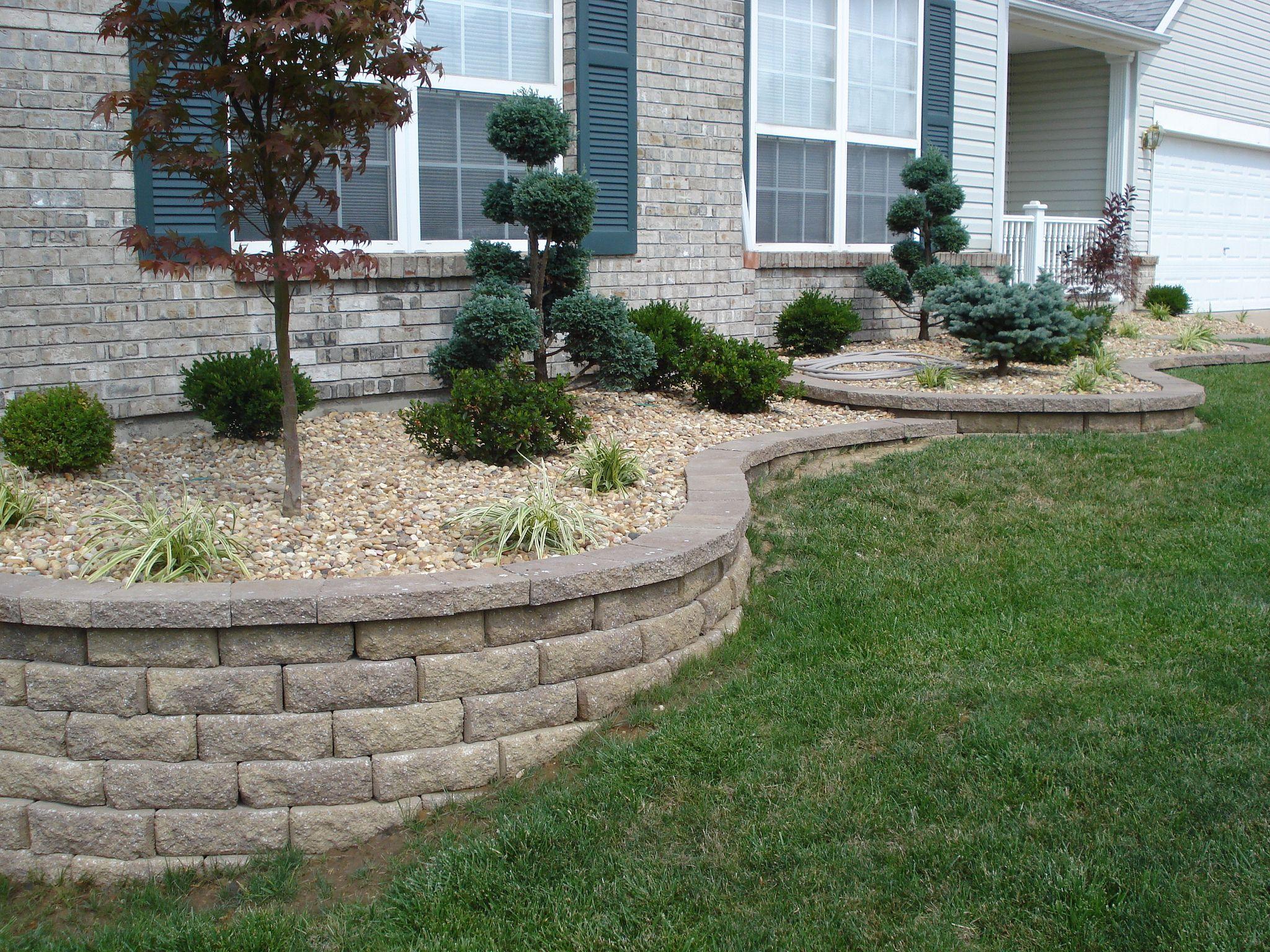Front Yard Retaining Walls Amp Landscaping