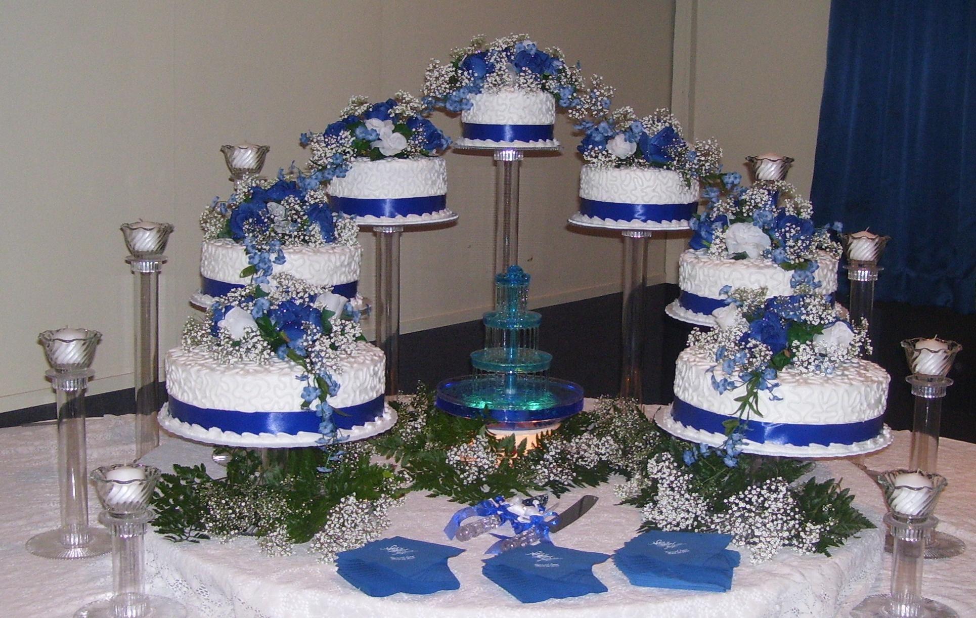 Royal Blue And White Cakepins