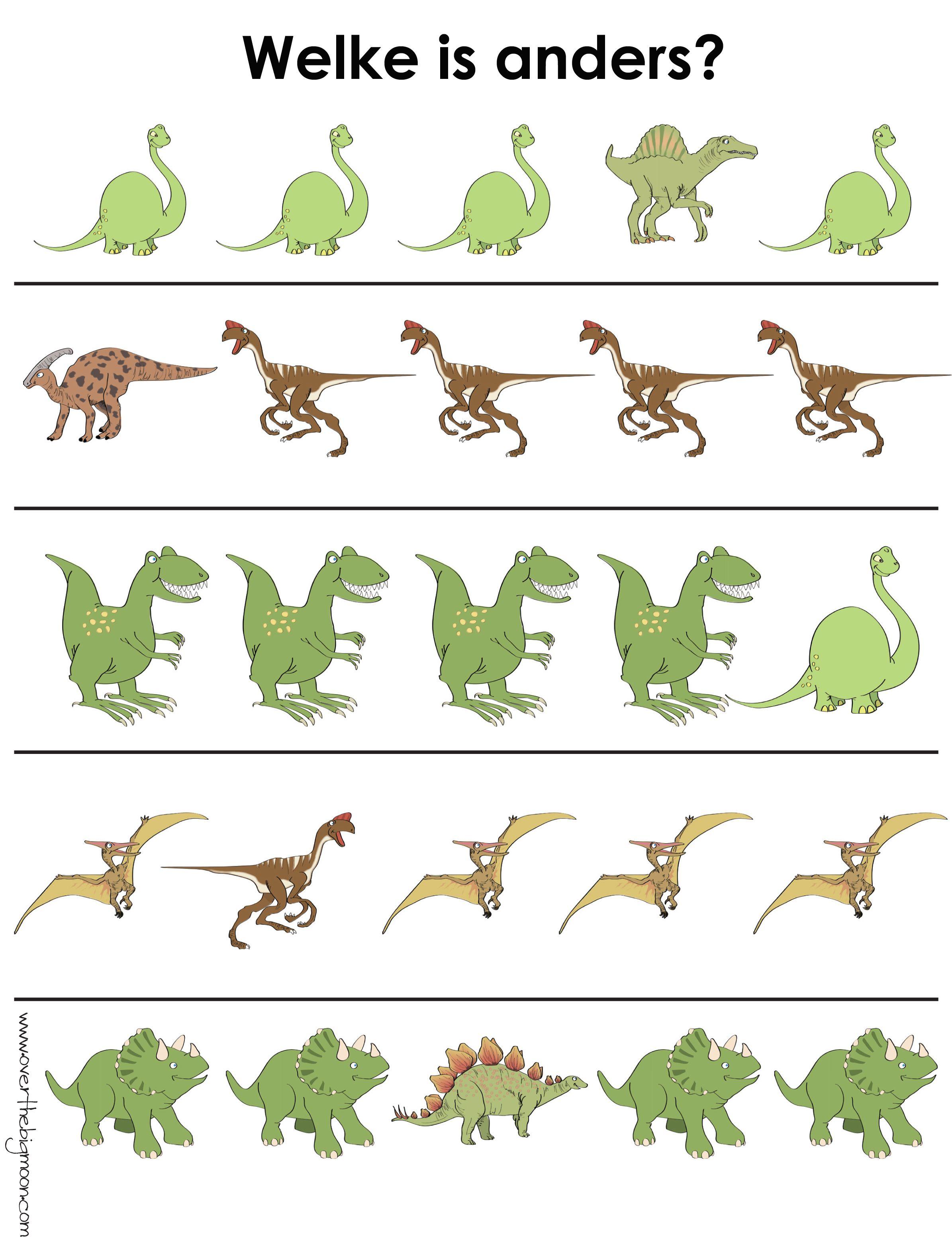 Werkblad Visueel Dino S