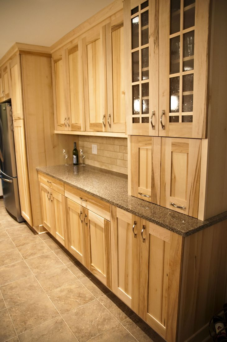 WoodMode Natural Maple Cabinets these are stock from Home Depot I