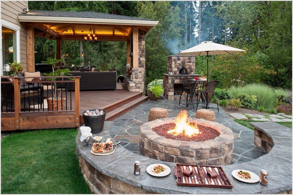 16 Creative Fire Pit Ideas That Will Transform Your ... on Backyard Patio Designs With Fire Pit  id=63081