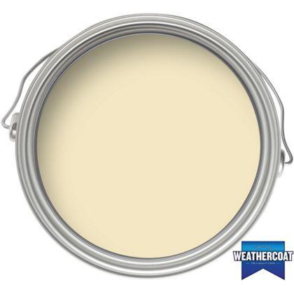 Homebase Weathercoat Cornish Cream Smooth Masonry Paint 225ml