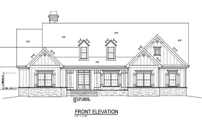 One Or Two Story Craftsman House Plan