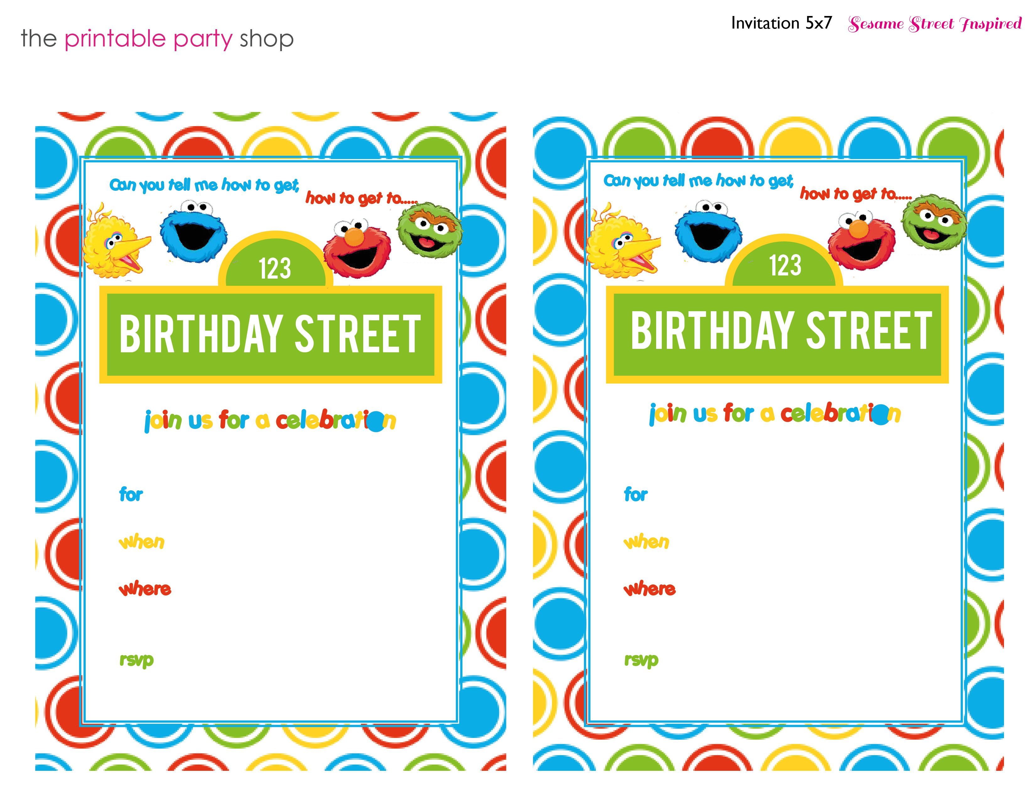 Sesame Street Invitation Free Printable Fill In The Blank