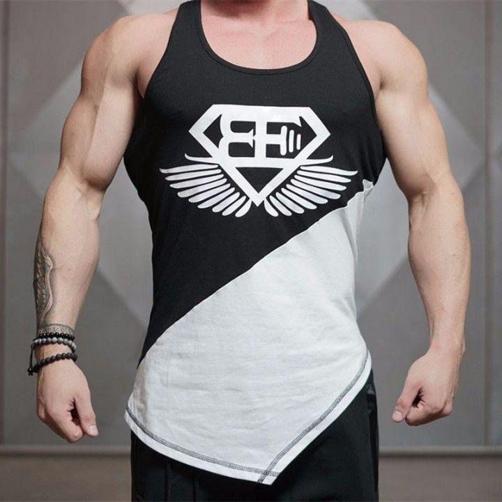 c9a3c7920 Superman Gym Singlets Mens Tank Tops Shirt Bodybuilding Equipment