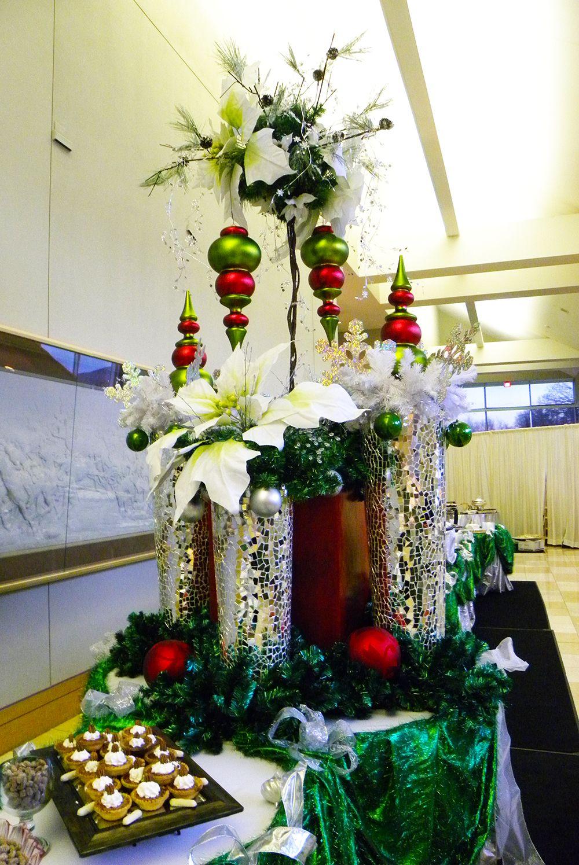 Elegant christmas buffet table decorations psoriasisguru