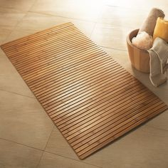 bamboo wooden bath mat | decks.decor etc | pinterest | bath mat