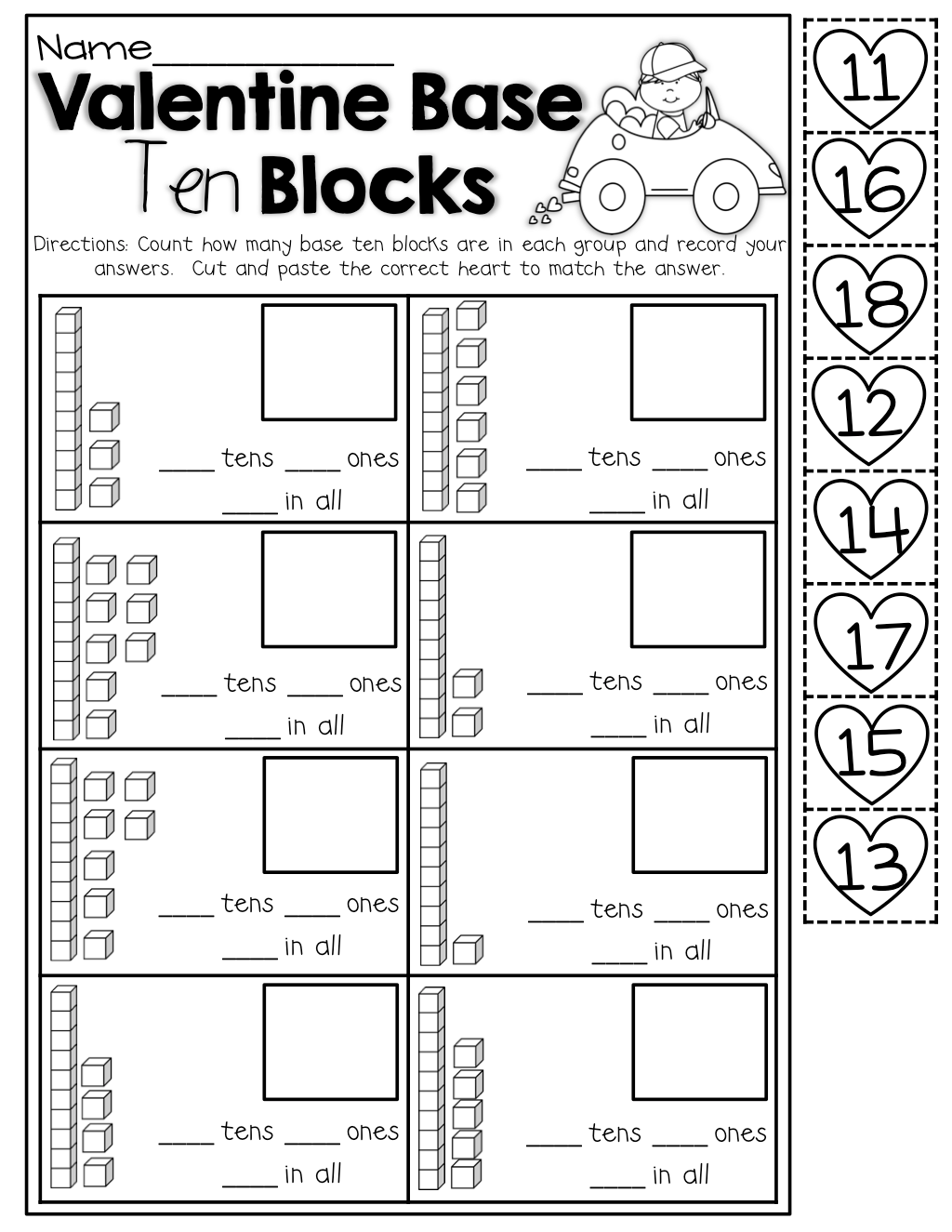 Place Value Worksheet Tens And Frames