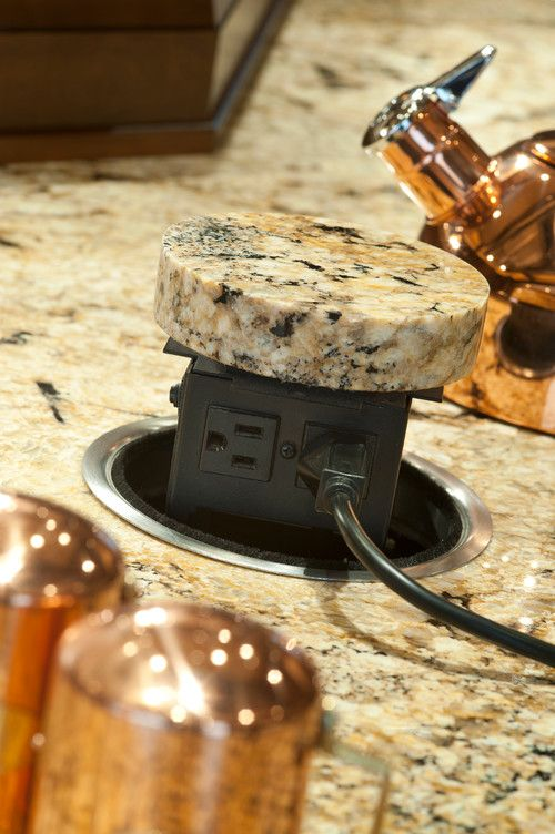 Pop Up Electrical Outlet In Granite New House DIY