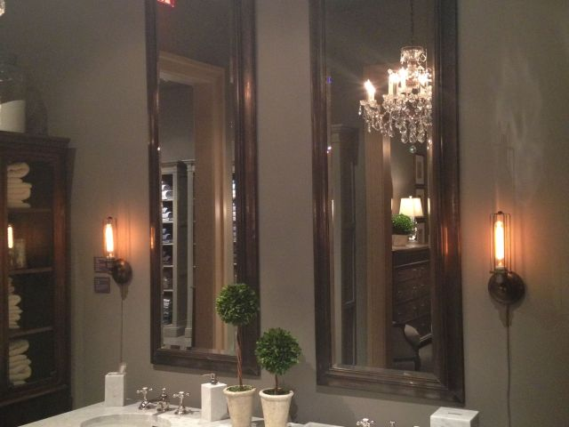 Tall mirrors for bathroom Restoration hardware this is the look
