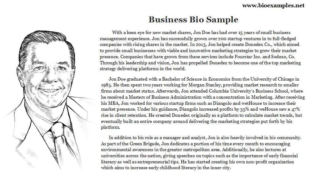 Business bio sample bio examples pinterest business