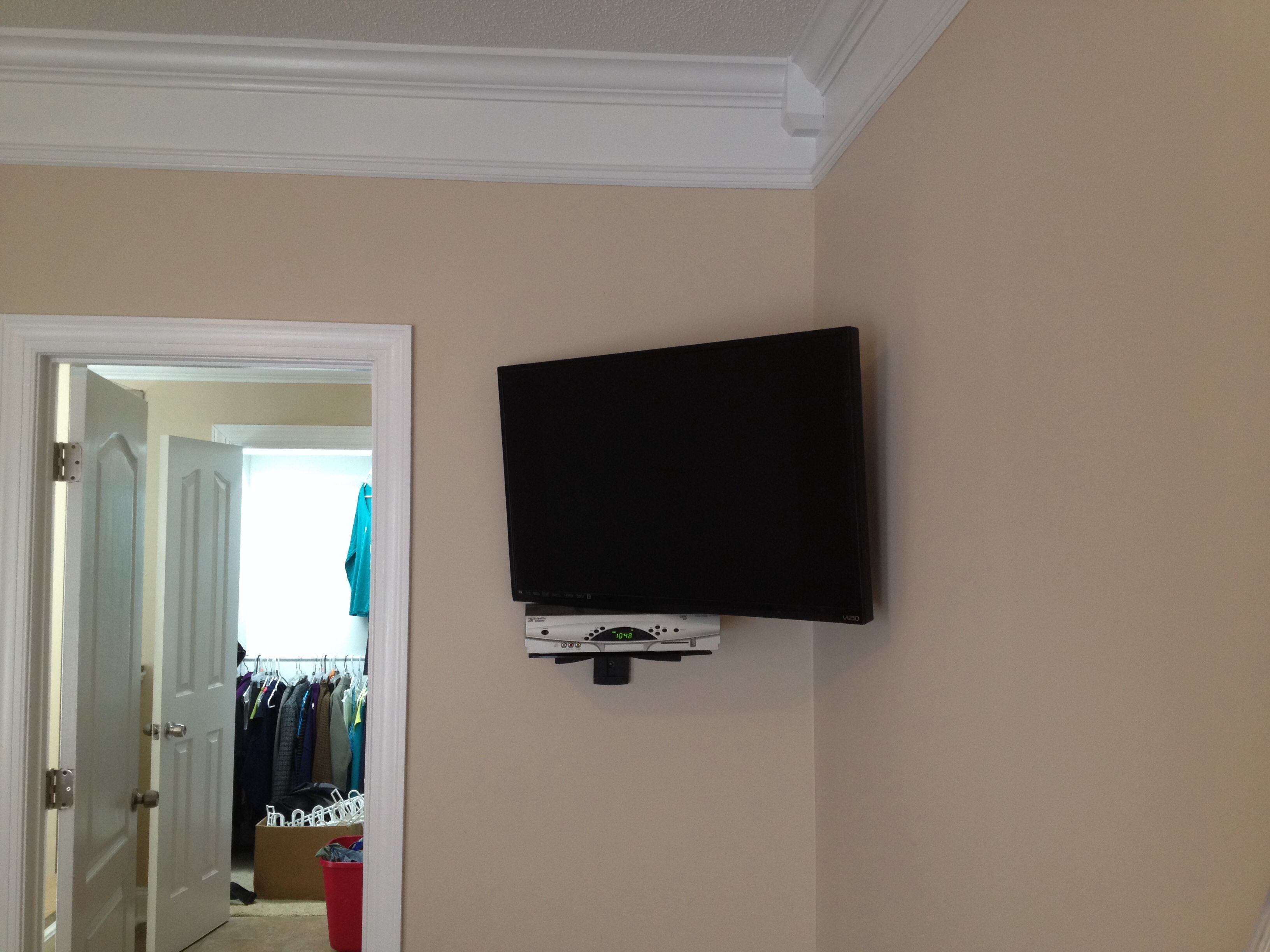 37 full motion corner wall mount with floating shelf for on tv wall mounts id=88296