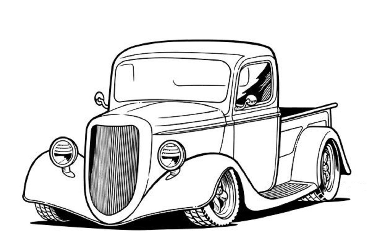 Pin By Kerry Sr On Car Truck B W Illustrations