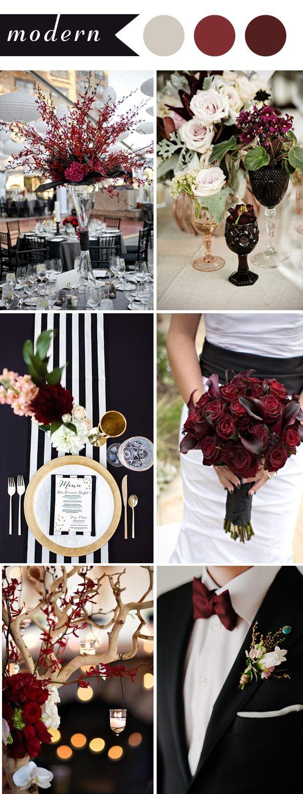 Perfect Burgundy Wedding Themes Ideas for   Modern wedding