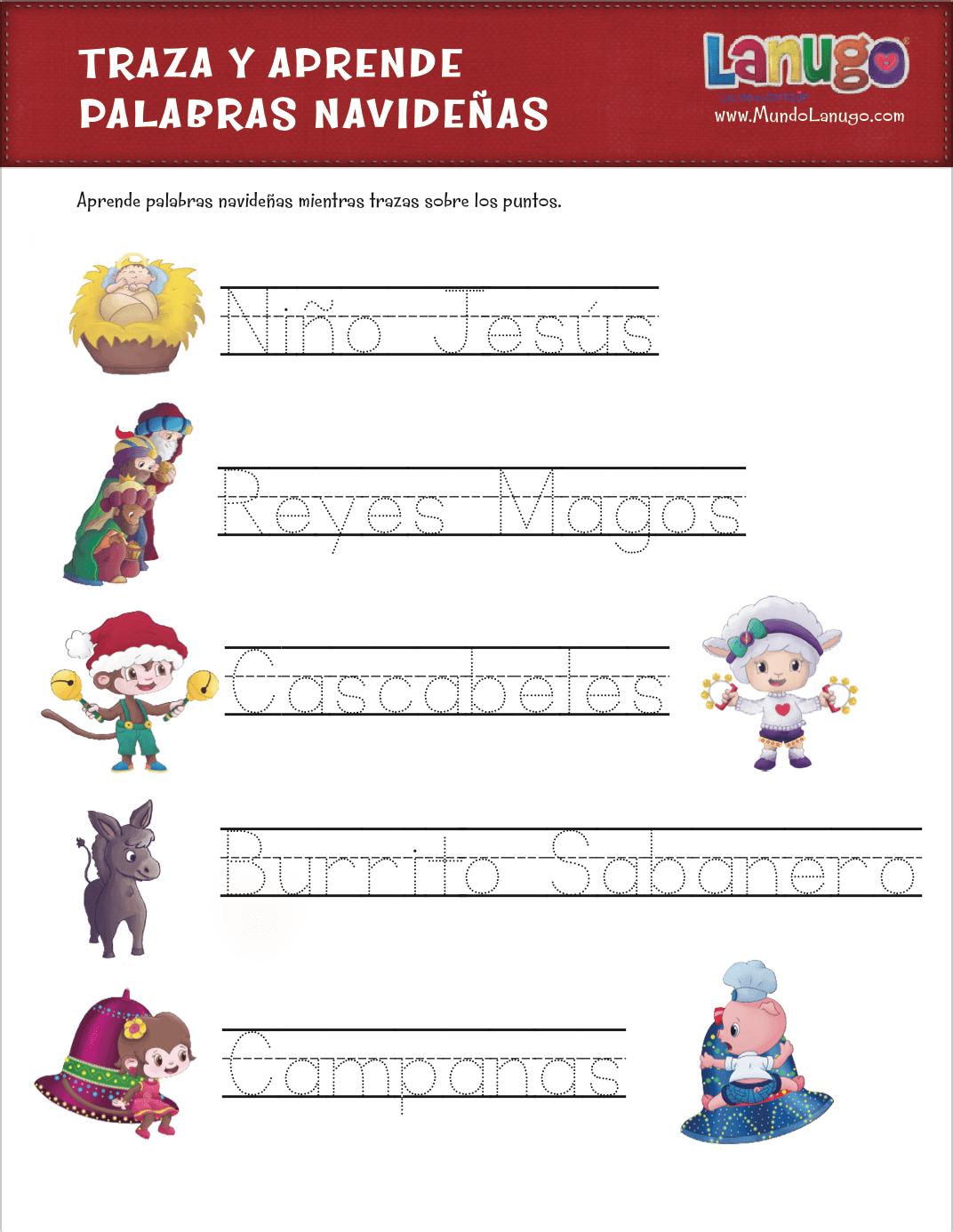 Free Printable Spelling Worksheet Para Navidad Y Dia De