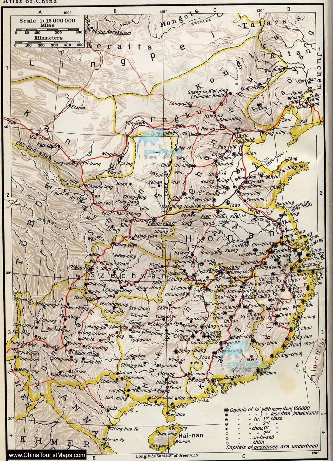 Map Of The Yuan Dynasty Mongol Empire Ad Ad