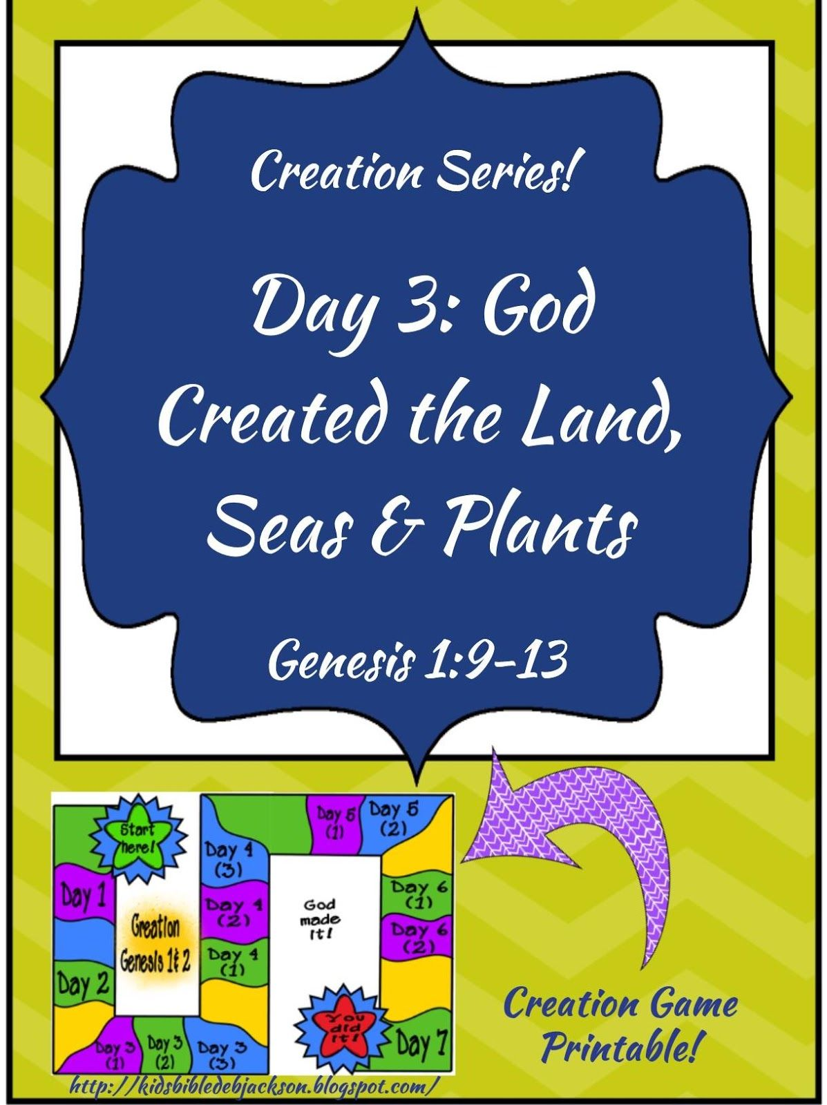 The Creation For Kids Day 3 With Free Game Printable