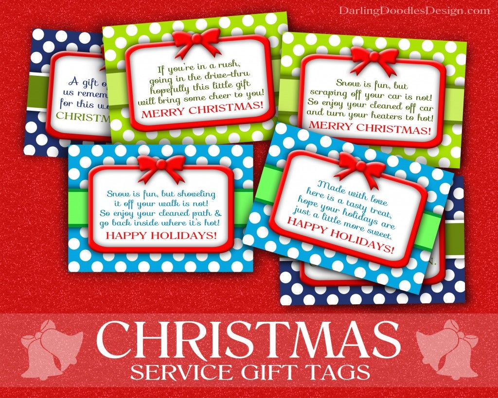 Christmas Service T Tags Free Printable Tags For Doing Random Acts Of Kindness This