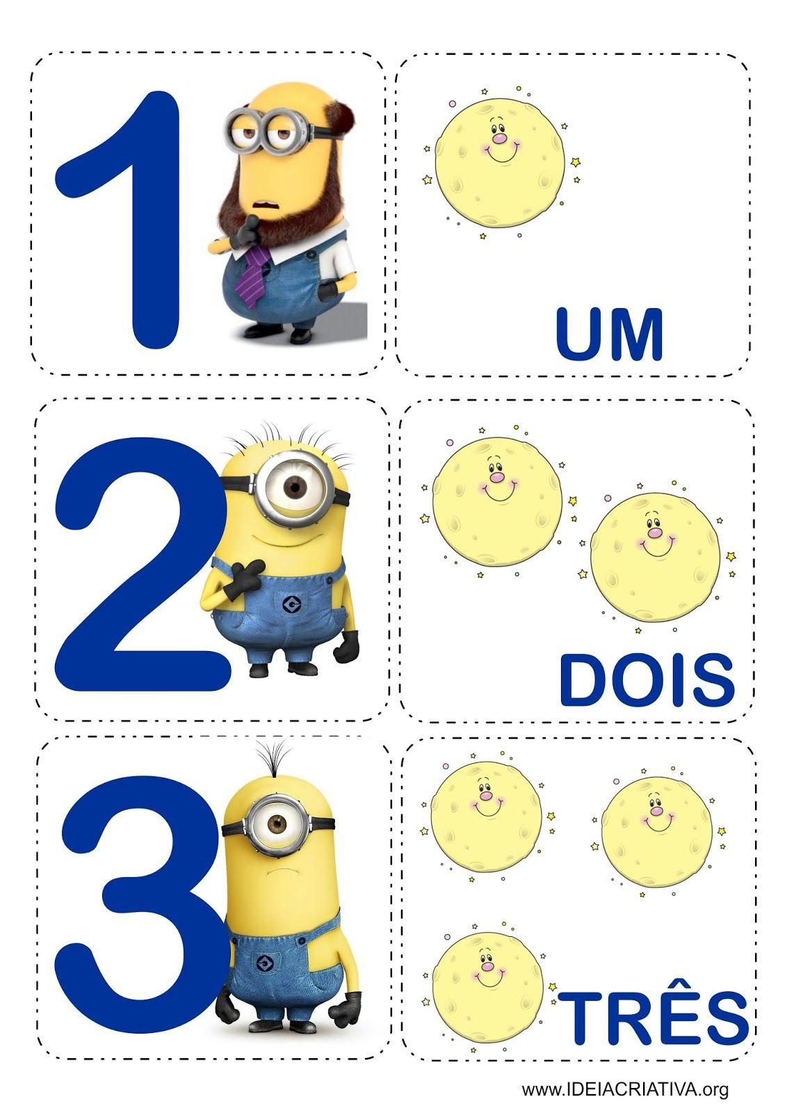 Matematica Infantil Flash Cards Jogo Da Memoria Minions