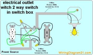 2 way switch with electrical outlet wiring diagram how to