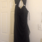 Black elegant evening gown black sleeveless evening gown with