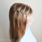 Waterfall elastic style toddler hairstyle teswood makenzyus hair