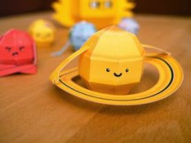 Papercraft imprimible y amable del Sistema Solar Infantil. Manualidades a Raudales.