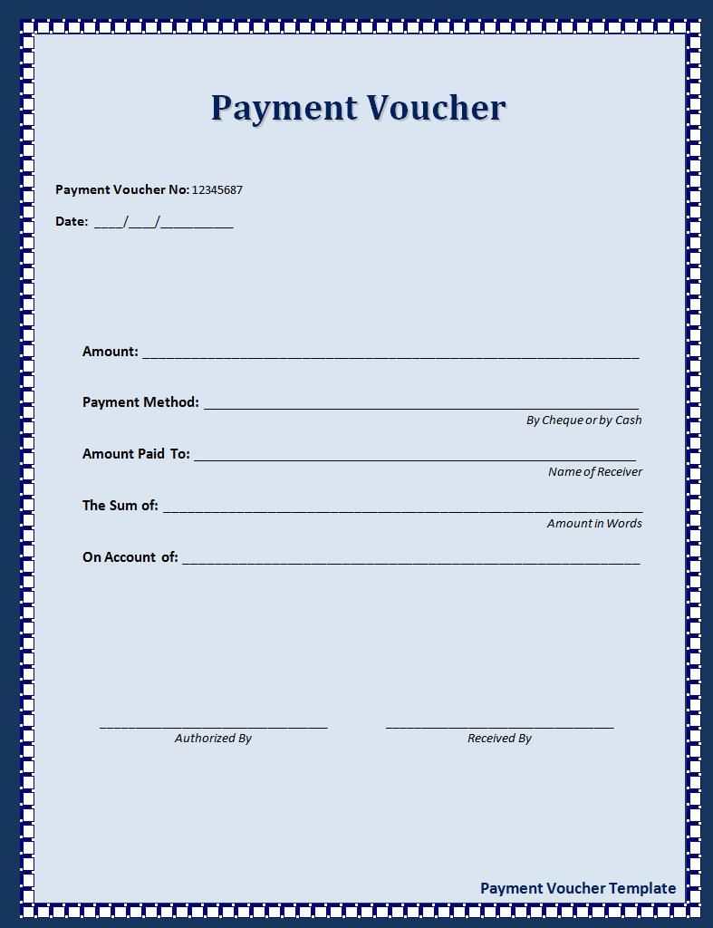 voucher template word – Payment Coupon Book Template