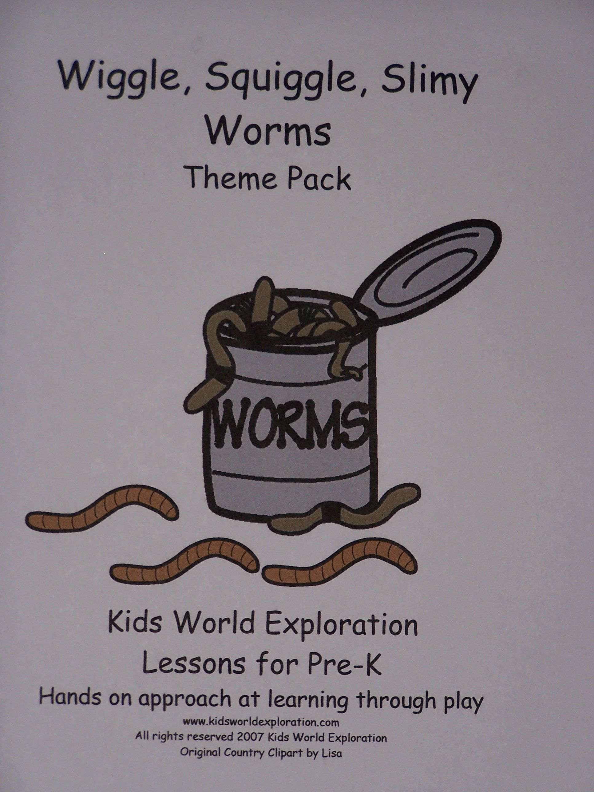 Wiggle Squiggle Slimy Worms A Theme Lesson Plan From