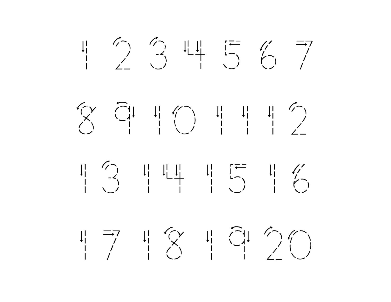 Traceable Numbers 1 10 For Kindergarten Kids And Preschool
