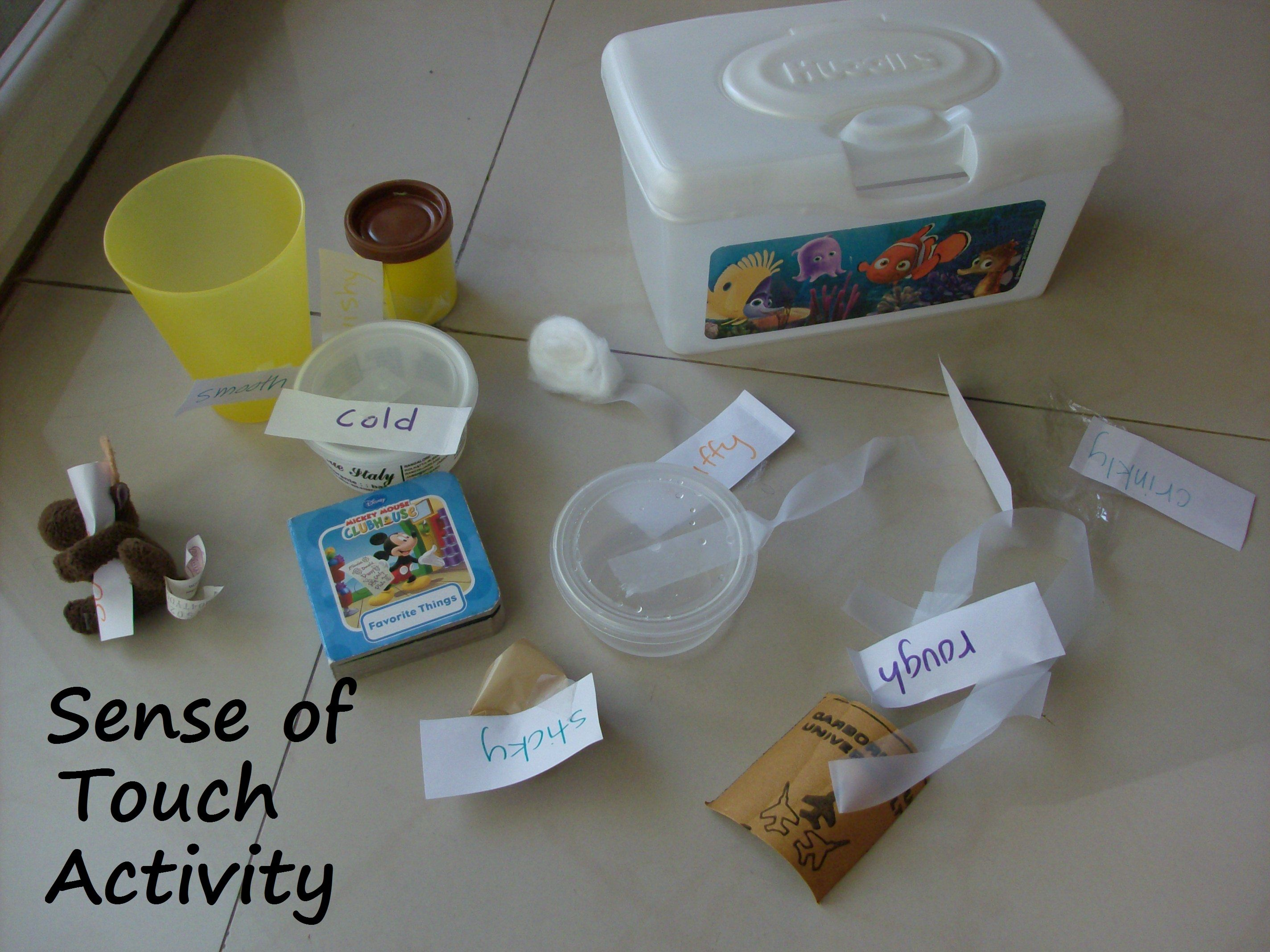 Sense Of Touch Activity For Preschoolers
