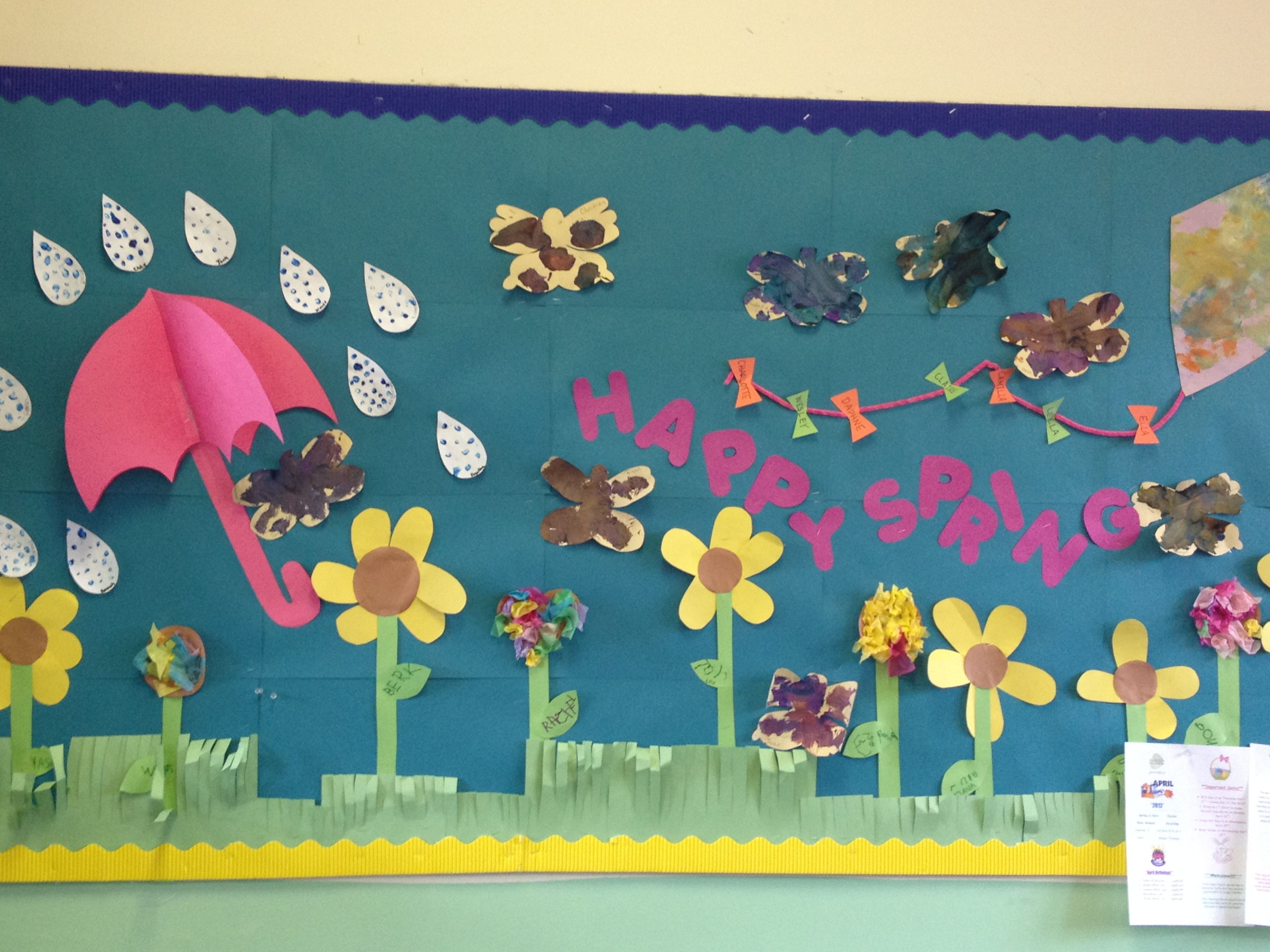 Happy Spring Bulletin Board
