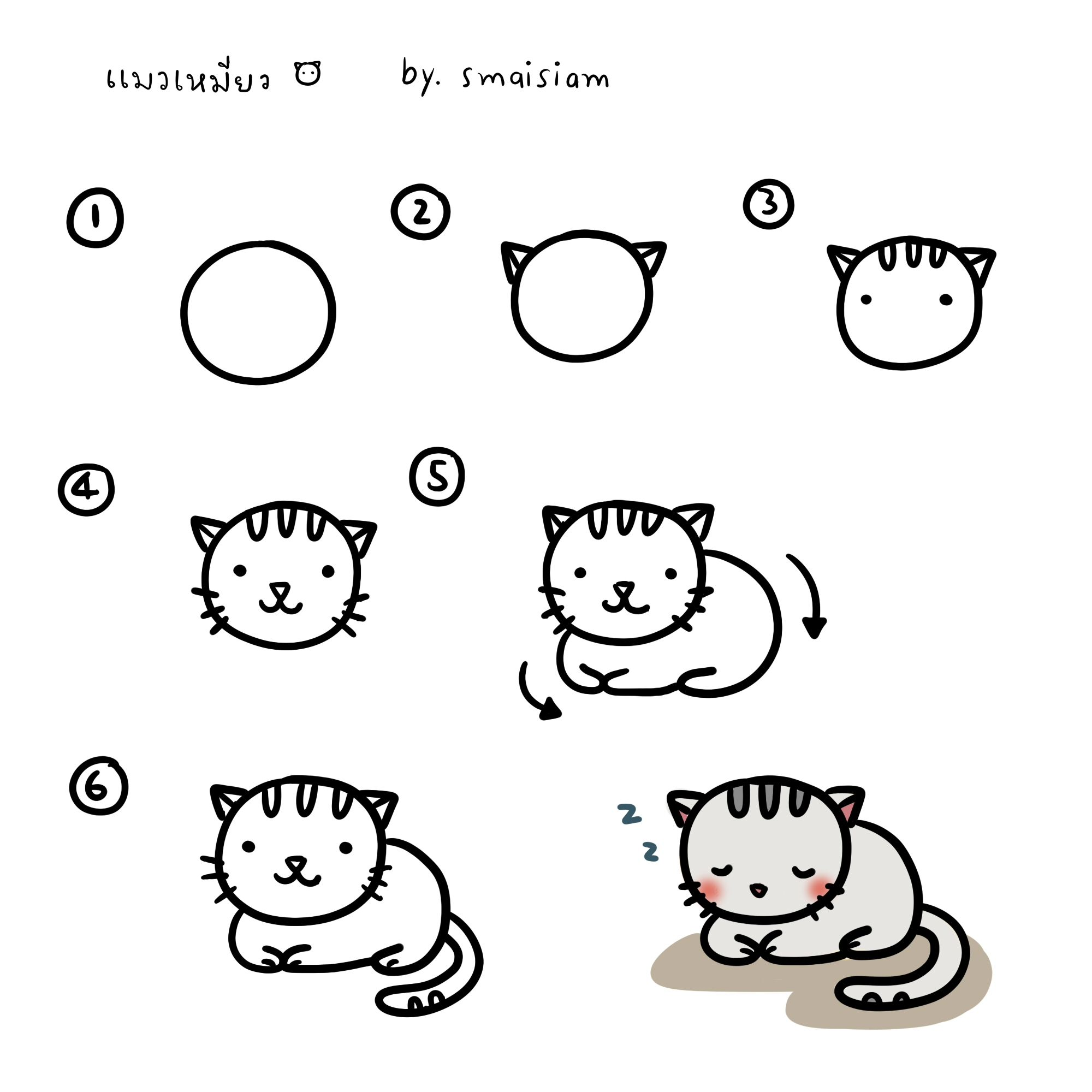 20 Adorable Tutorials On How To Draw A Cat