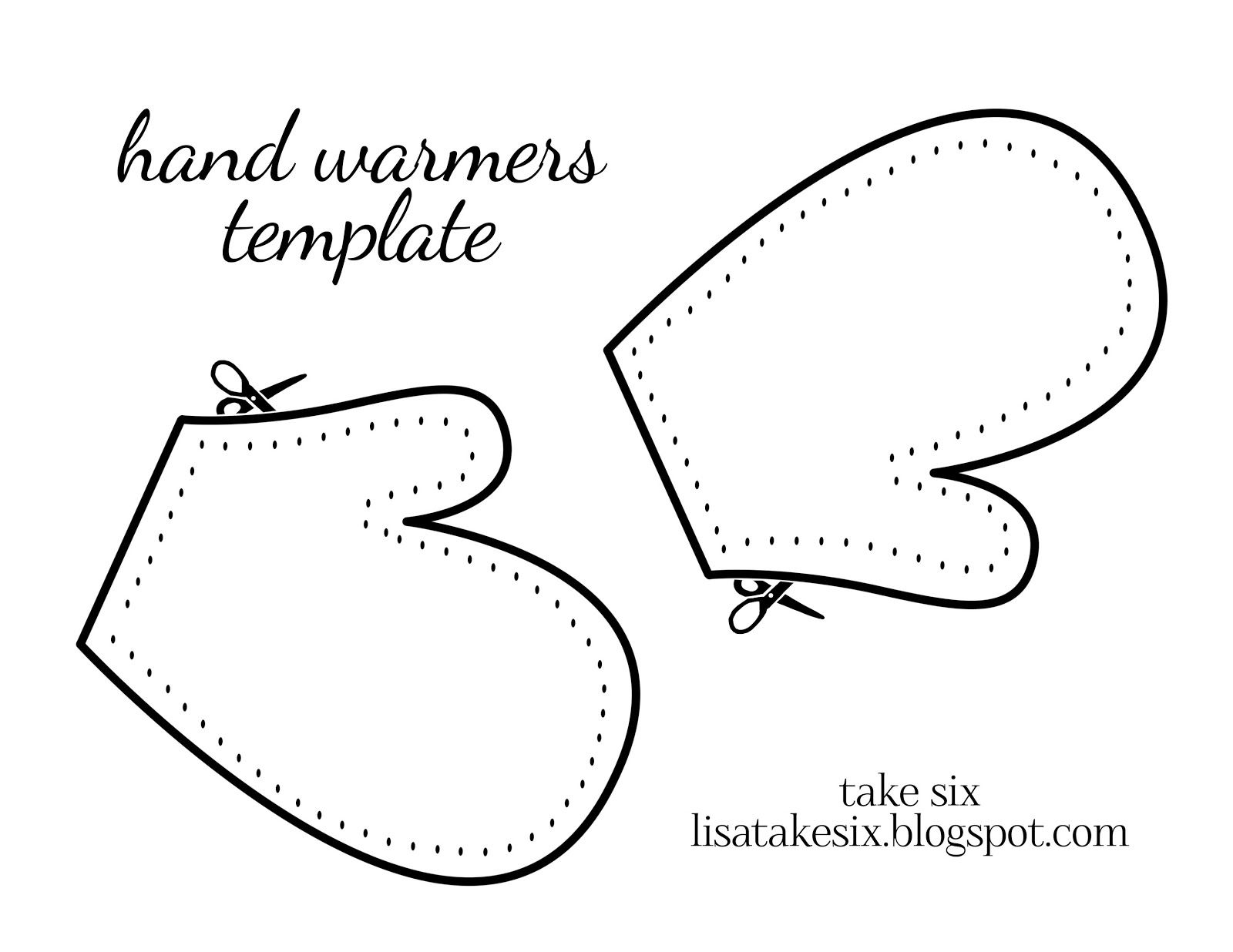 Mitten Template Printable Pattern