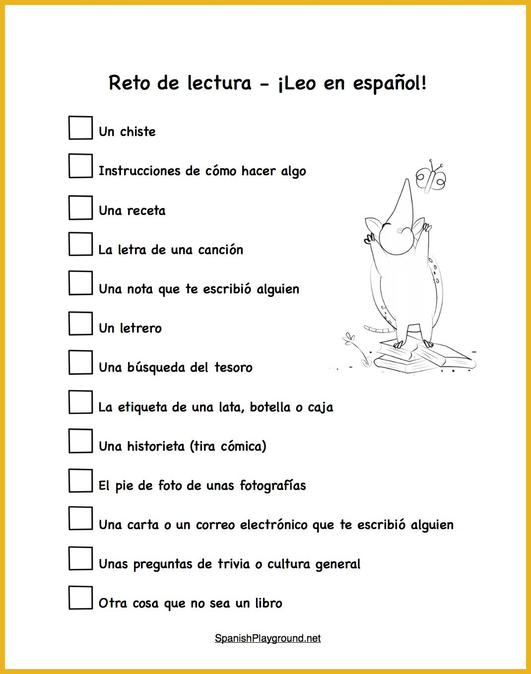 Spanish Reading Practice 15 Things To Read
