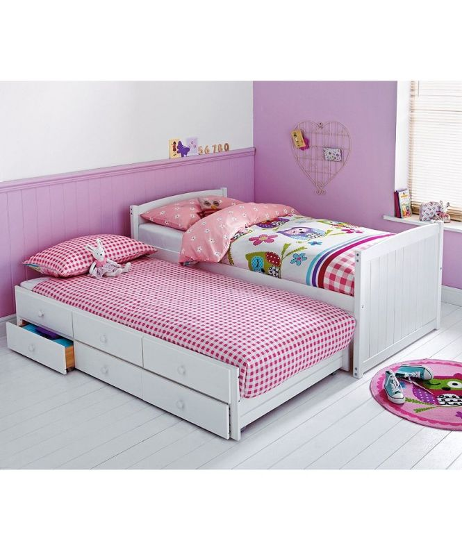 Frankie White Cabin And Trundle Bed With Ashley Mattress At Argos Co Uk