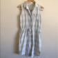 Currentelliott bleached dobby plaid shirt dress spread collar