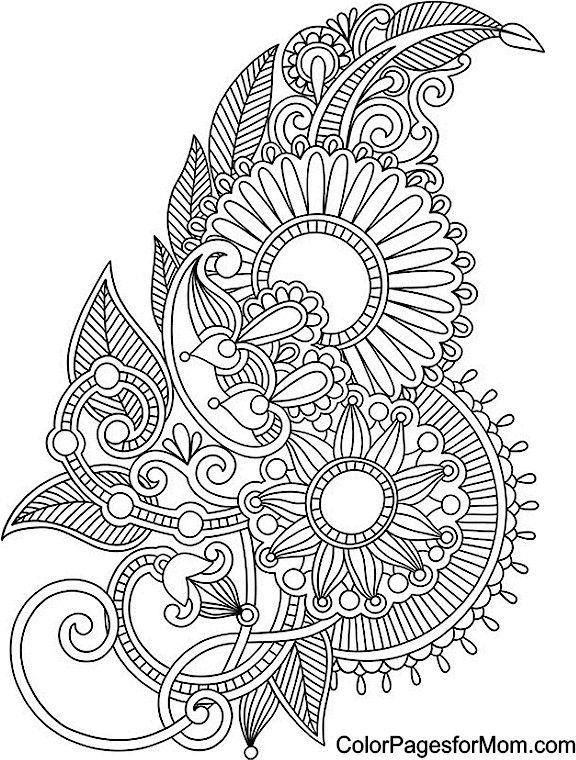 paisley 51 coloring page  coloring  pinterest