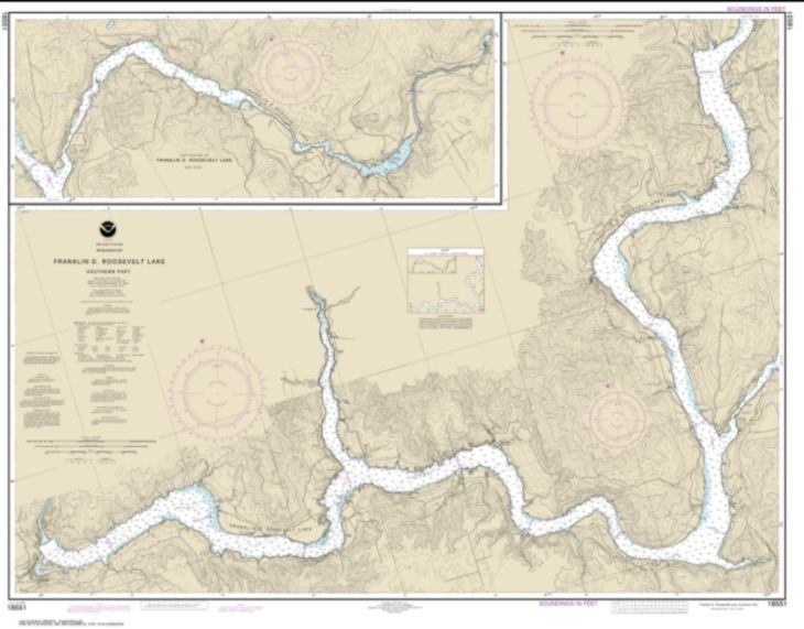 FRANKLIN D ROOSEVELT LAKE Southern part by NOAA