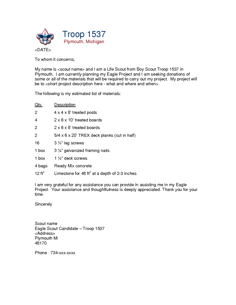 Eagle Scout Recommendation Letter Sample Poemsrom